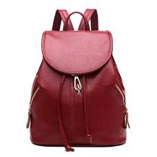 Women Korean Style Leather Backpack