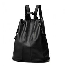 Women Korean Faux Leather Backpack