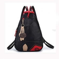 Women PU Bucket Travel Backpack