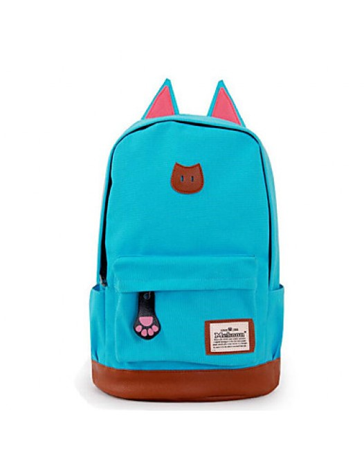 Unisex Casual Cat Ears Zipper Travel Bag