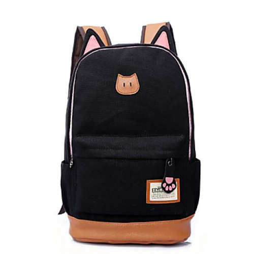 Unisex Casual Cat Ears Zipper Travel Bag