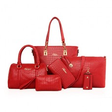 Women PU Casual Career Tote Bag Sets