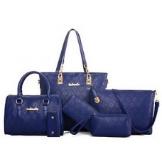 Women PU Casual Office Career Bag Sets