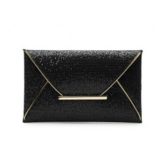 Women PU Solid Party Casual Clutch