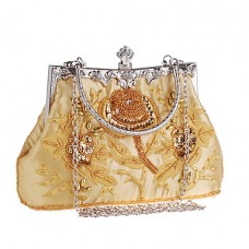 Women Embroidery Beaded Evening Bag