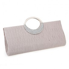 Women Solid Silk Party Evening Bag