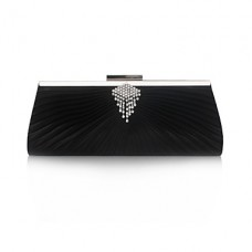 Satin Shell Rhinestone Evening Handbag