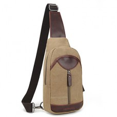 Men Canvas Solid Shoulder Chest Bag