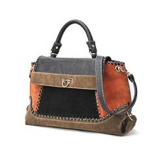 Women Flap Tote Brown Shoulder Bag
