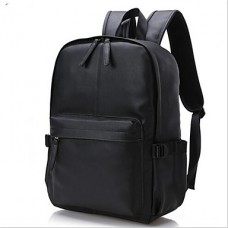 Men Cowhide Casual Outdoor School Bag