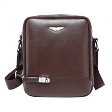 Men Cowhide Casual Office Shoulder Bag