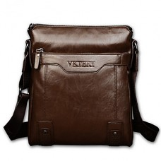 Men PU Casual Solid Shoulder Bag