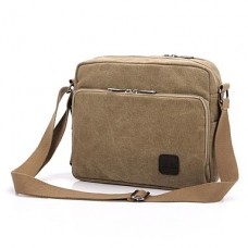 Men Canvas Casual Shoulder Bag Beige
