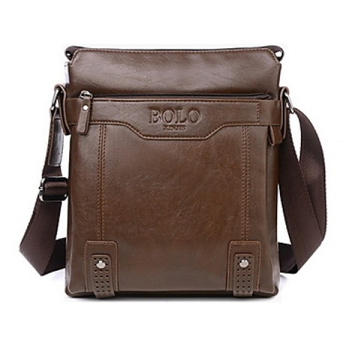 Men 's PU Baguette Shoulder Bag Tote