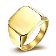 Men's Gold-Plated Titanium Steel Rings