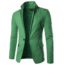 Men's Solid Casual Work Blazer