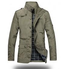 Men's Long Sleeve Trench Coat