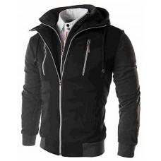 Men's Solid Casual Coat,Cotton