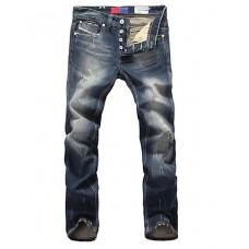 Men Fit Casual Leisure Jeans Pants