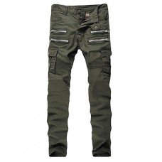 Men's Military Army Green Jeans