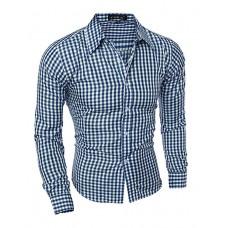 Men's Plaids Casual Cotton Shirt