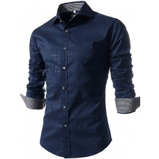 Men's Printed Long Sleeved Shirt