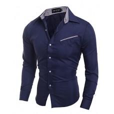 Men's Pocket Design Slim Shirt