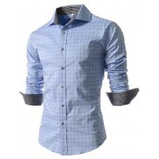 Mens Solid Long-Sleeve Shirt