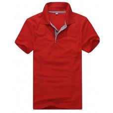 Simple Check Short Sleeve POLO Shirt