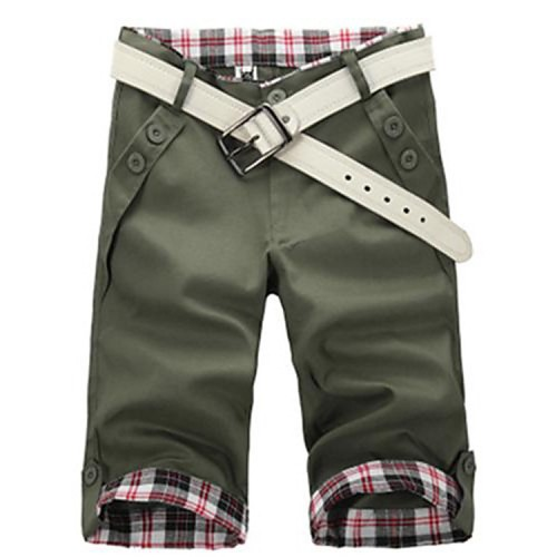Men's Solid Pattern Casual Pants