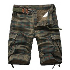 Men's Casual Print Plaids Shorts