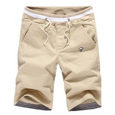 Men's Casual Khaki Cotton Shorts