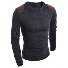 Men's Solid Slim Cotton Pullover