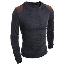 Men's Solid Slim Cotton Pullover