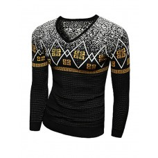 Men's Print Wool Casual Pullover
