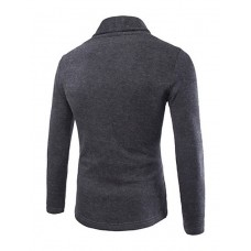 Men's Solid Cardigan Long Sleeve