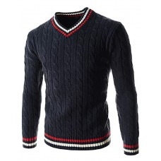 Men's Striped Casual Pullover