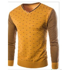 Men's Polka Dot Solid Pullover