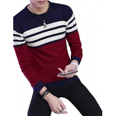 Male striped Turtleneck Sweater
