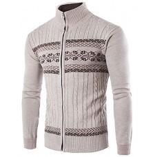 Men's Striped Cardigan Sweater