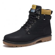 Men's Winter Leatherette Casual Boots