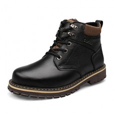 Men's Casual Leather Calf Hair Boots
