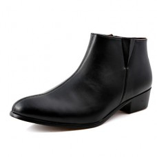 Men's Shoes Casual Solid Black Boots