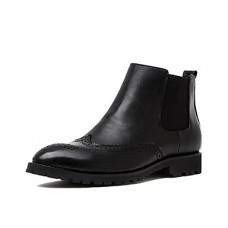 Men's Winter Leather Casual Flat Boots