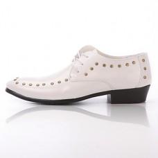 Men's Comfort Leather Rivet Lace-up shoes