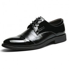 Men's Patent Leather Chunky Heel shoes