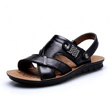 Men's Casual Comfort Leather Beach Sandals