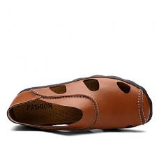 Men's Comfort Cowhide Leather Slip-Ons