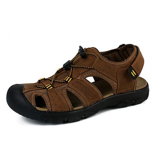 Men's Comfort Canvas Nappa Leather Sandals