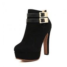 Women's Shoes Chunky Heel Bootie